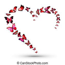 Heart with butterflies