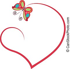 heart with butterfly