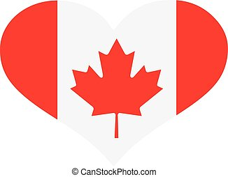Heart with candian flag