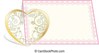 HEART WITH CARD