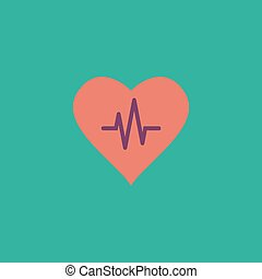 Heart with cardiogram