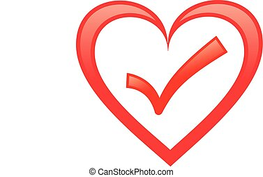 Heart with check mark