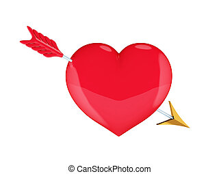 Heart with Cupid's arrow.