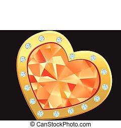 heart with diamond
