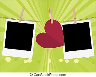 Heart with Film Frame on Rope