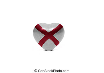 heart with flag of alabama state
