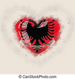 Heart with flag of albania