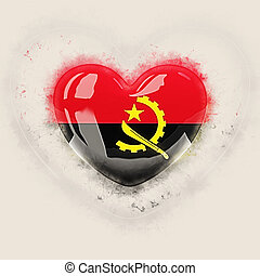 Heart with flag of angola
