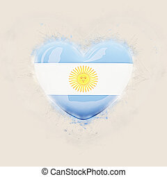 Heart with flag of argentina