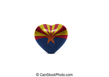 heart with flag of arizona state