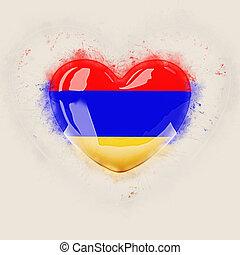 Heart with flag of armenia