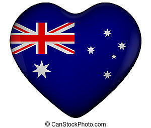 Heart with flag of australia