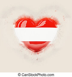 Heart with flag of austria