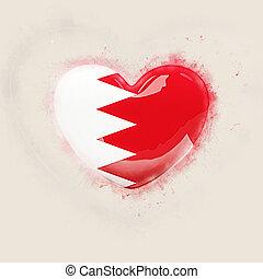 Heart with flag of bahrain