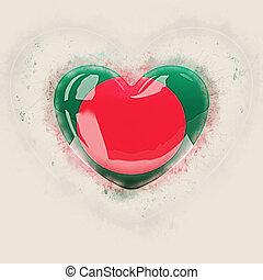 Heart with flag of bangladesh