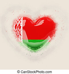 Heart with flag of belarus