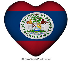 Heart with flag of Belize