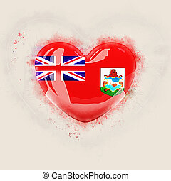 Heart with flag of bermuda