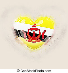 Heart with flag of brunei