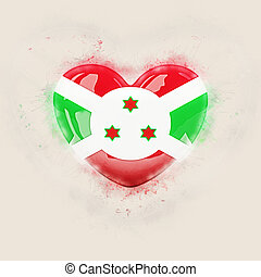 Heart with flag of burundi