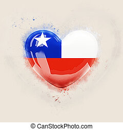 Heart with flag of chile