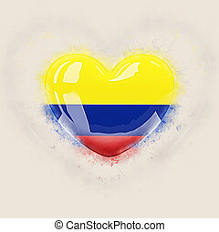 Heart with flag of colombia