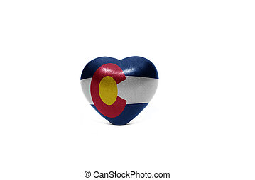 heart with flag of colorado state