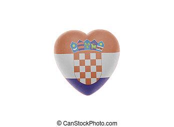 Heart with Flag of Croatia