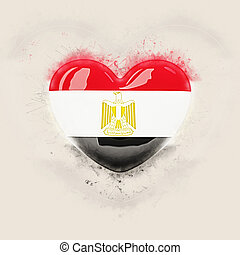 Heart with flag of egypt