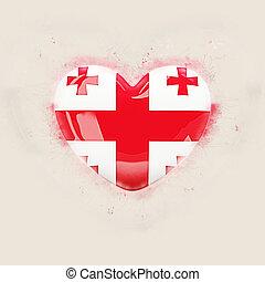 Heart with flag of georgia