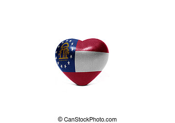 heart with flag of georgia state