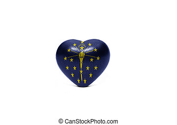 heart with flag of indiana state