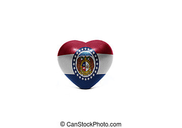 heart with flag of missouri state