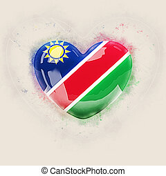 Heart with flag of namibia