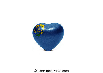 heart with flag of nevada state