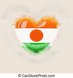 Heart with flag of niger