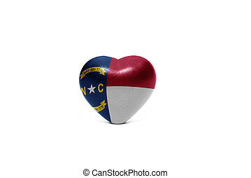 heart with flag of north carolina state