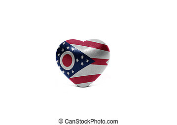 heart with flag of ohio state