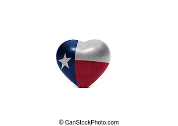 heart with flag of texas state