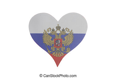Heart with Flag of the Russian Federation