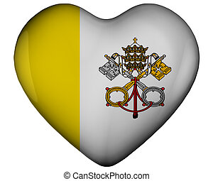 Heart with flag of vatican