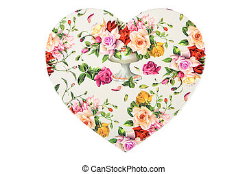 Heart with flowers