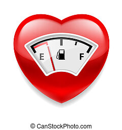 Heart with fuel indicator