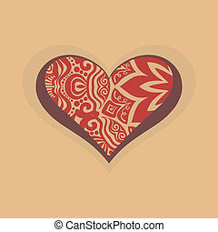 Heart with graphic design decoration
