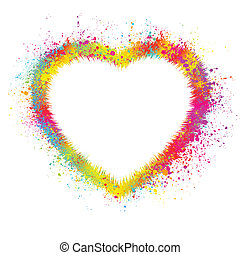 Heart with grunge background. EPS 8 vector file included