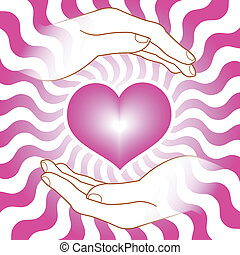 heart with hands
