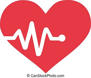 Heart with heartbeat graph