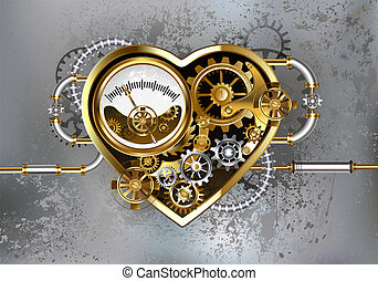 Heart with manometer - Mechanical heart with manometer,...