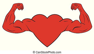Heart with muscular arms