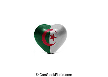 heart with national flag of algeria